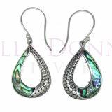 Silver & Paua Shell Earrings