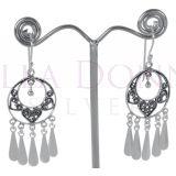 Silver Bohemian Round Earrings