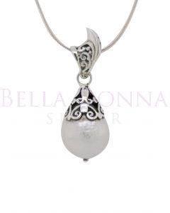 Silver & Edison Pearl Pendant