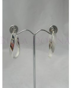 Silver 25x5mm U Twist Hoops