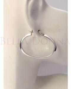 Silver Hoop Earrings - Large