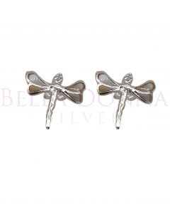 Silver & MOP Dragonfly Studs