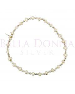 Silver & Pearl Bracelet