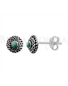 Silver & Resin Oxi Aztec Studs